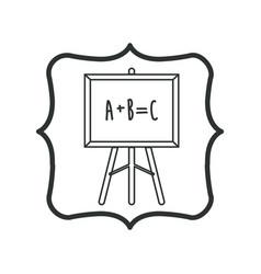 Isolated blackboard of school design vector