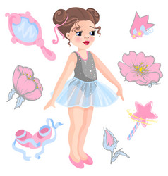 Little ballerina and other vector