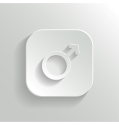 Male icon - white app button vector