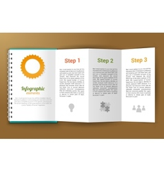 Notepad unfolded infographic vector