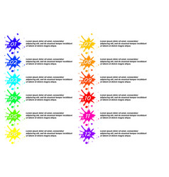 number bullet point colorful 3d markers vector image