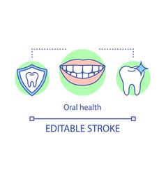 oral health concept icon vector image