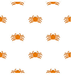 Orange crab pattern seamless vector