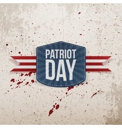Patriot day realistic tag with ribbon vector