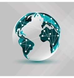 Planet design World icon Flat vector image