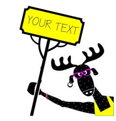 print moose dj vector image