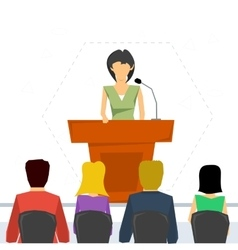 Public speaker from tribune vector image