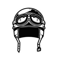 racing motorcycle helmet isolated on white vector image