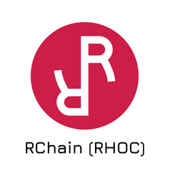 rchain rhoc crypto coin ic vector image