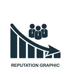 reputation decrease graphic icon mobile app vector image