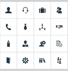 Set simple icons element vector