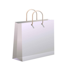 Shopping bag isolated on white vector