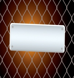 sign fence night vector image