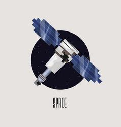 space satellite design vector image