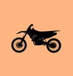 sport fast motocross bike model icon vector image