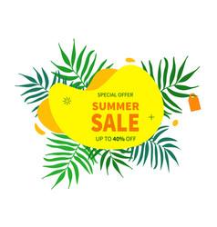 summer sale banner template summer vector image