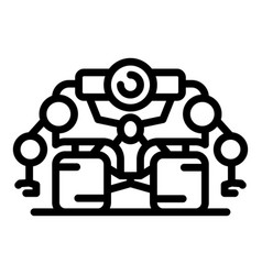 Super space robot icon outline style vector