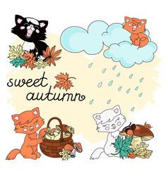sweet autumn autumn set vector image