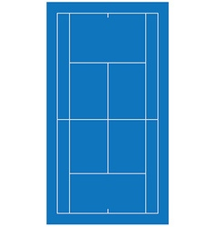 Tennis court blue vector image