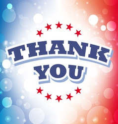 thank you banner on celebration background 2 vector image