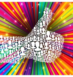 thumb up symbol many peoples vector image