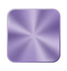 Ultra violet metal button icon vector