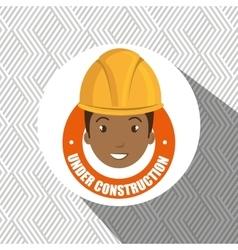 Under construction worker website vector