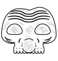 vintage zombie mask vector image