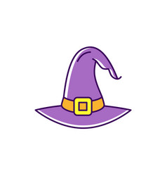 witch hat icon colorful flat halloween icon thin vector image