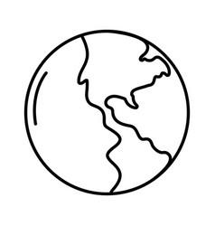 wolrd map cartoon vector image