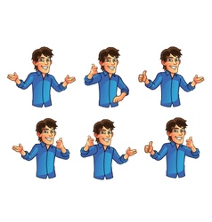 Young Man Gestures vector image