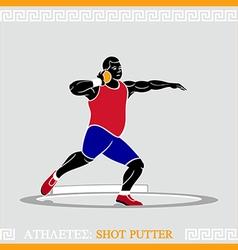Athlete shot putter vector image vector image