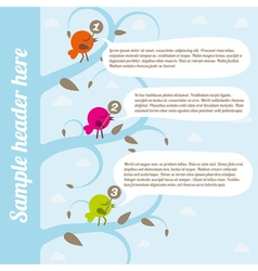 Birds with speech bubbles vector image vector image