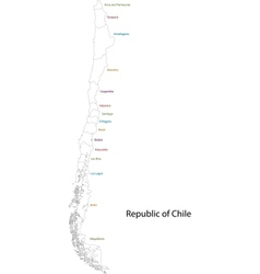 Chile map vector image