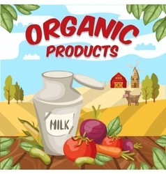 Farm Organic Vegetables Background vector image vector image