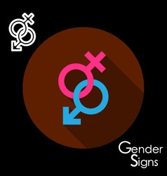 Male and female gender signs vector image vector image