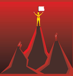successful businessmen concept vector image