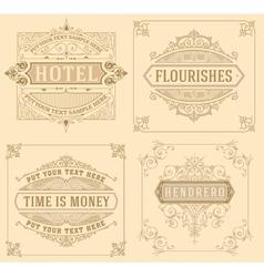 Vintage logo templates with Flourishes Elegant vector image vector image