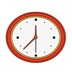 color image cartoon analog wall clock vector image