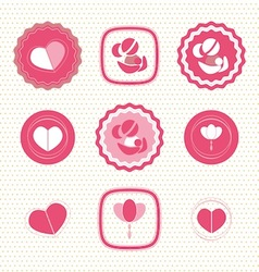 Mothers Day Badges and Labels icon vector image vector image