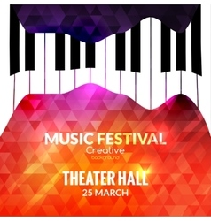 Music festival poster background Jazz piano music vector image