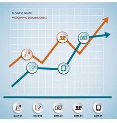 Paper chart and graph Infographics vector image vector image