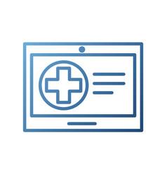tablet hospital cross online service health vector image