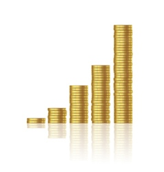 growth of gold coins vector image vector image
