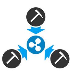 ripple mining pool flat icon vector image vector image