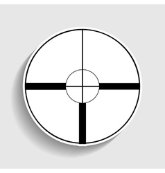 Sight sign Sticker style icon vector image vector image
