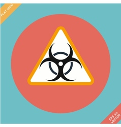 Warning symbol biohazard - vector image