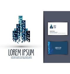 building logo design template business or finances vector image