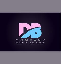 db alphabet letter join joined letter logo design vector image vector image