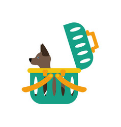 dog carrier vector image